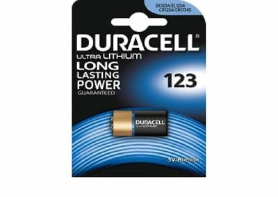 Duracell Ultra CR123 3V Lithium Photo Battery DL123A/CR17345 Expiry 2024