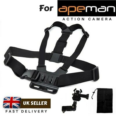 Chest Strap Harness Mount Holder for Apeman A60 A66 A70 A80 Action Camera