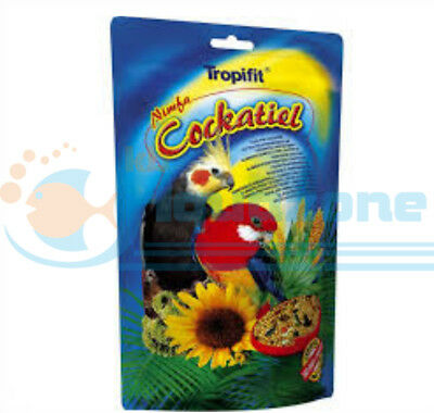 FOOD FOR COCKATIELS GRAINS AND GRASS SEEDS 700g SACHET TROPICAL