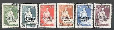 EAST KARELIA - Overprints Carl Manneheim Set 1941 WW2 Finland Occupation CTO