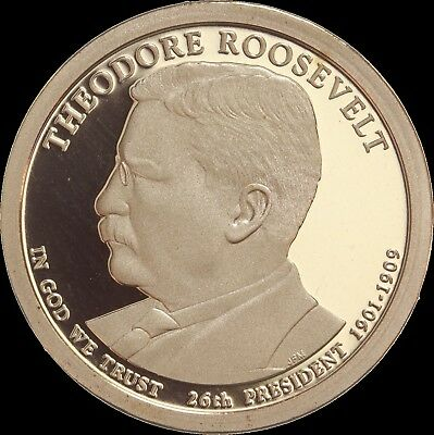 2013 S Theodore Roosevelt Presidential Dollar Gem Deep Cameo PROOF