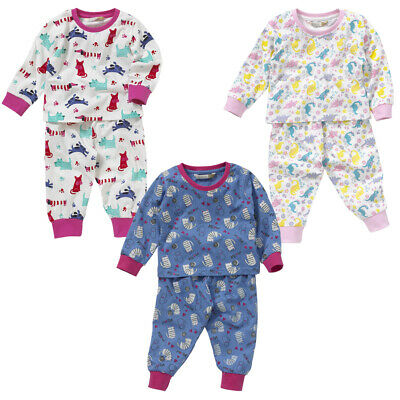 Lullaby Toddler Girls Cute Puppy Dogs Pyjamas Cotton Multi Colour Pink Red 6-23m