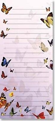 Leanin' Tree Butterflies Magnetic List Pad Notizblock mit Magnet Schmetterlinge