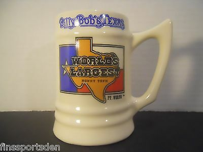 BILLY BOB'S TEXAS Souvenir Beer Mug Stein ~ World's Largest Honky Tonk Ft. Worth