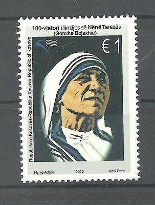 KOSOVO 190 2010 ''100.аnn.of Mother Teresa set MNH