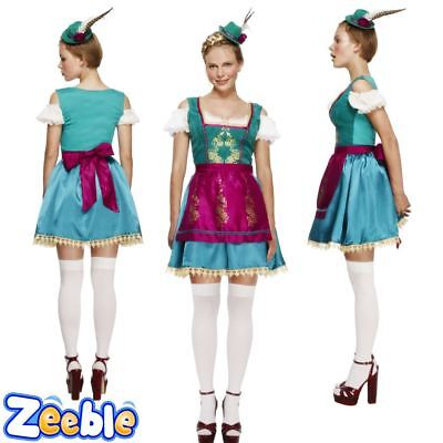 Womens Sexy Oktoberfest Fancy Dress Outfit German Bavarian Beer Maid Costume
