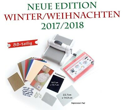 Sizzix Big Shot Plus, DINA4 Präge & Schneidemaschine, WINTER EDITION 2017