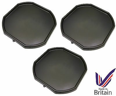 3 x Black Plastic Mixing Tray Kids Play Fun Sand Water Builders Spot for Cement