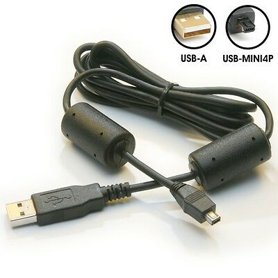 5ft.USB 2.0 Mini4P Data Cable with Ferrite Cores for Cameras (Aiptek) 0300505003