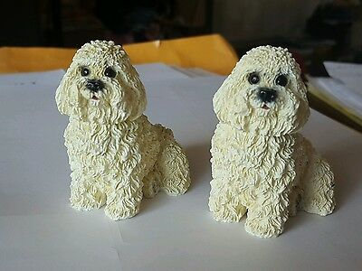 Nice CUTE White Bichon frise resin Dog Puppy figurine