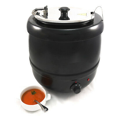 Chef-Hub 400W Commercial 10L Soup Kettle Food Warmer For Gravy & Soup Etc