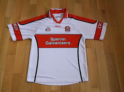 Derry O'neills Jersey,size S,color White/red