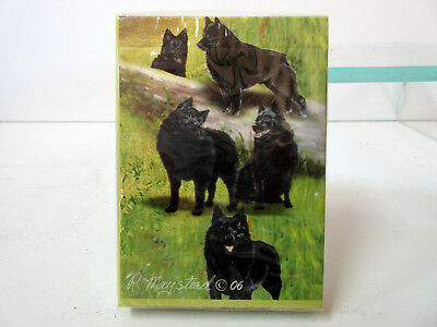 New Schipperke Playing Card Set of Cards Ruth Maystead 5 Schipperkes