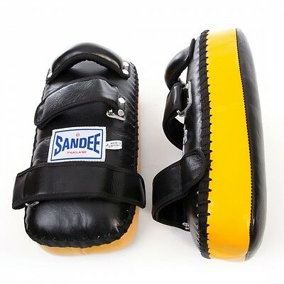 Sandee Leather Authentic Flat Thai Pads Black/Yellow