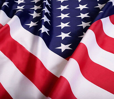 American Flag USA Polyester Flag UV Fade Resistant Colors Brass Grommets 3x5 Ft