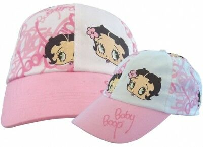 0Bb086 Betty Boop Cappellino Bimba Taglie Assortite