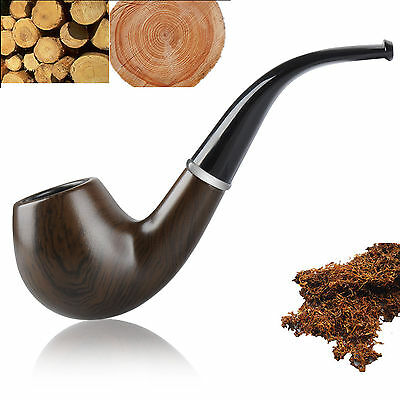 Durable Wooden Wood Smoking Pipe Tobacco Cigarettes Cigar Pipes Gift For X-Mas