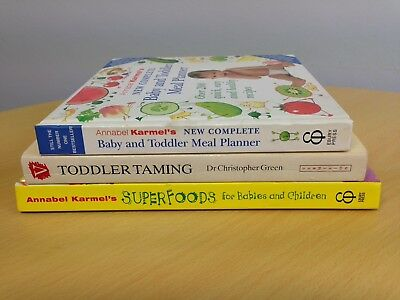 Baby Toddler Book Bundle. Superfoods For Babies And Children/Baby Meal Planner/