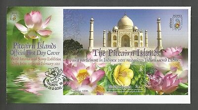 "Pitcairn Islands 2011 Indipex ""2011"" Minisheet Fdc Sg,ms823 Lot 4887A"