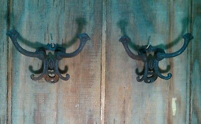 Original Victorian style antique vintage coat/hat hooks cast iron hall tree