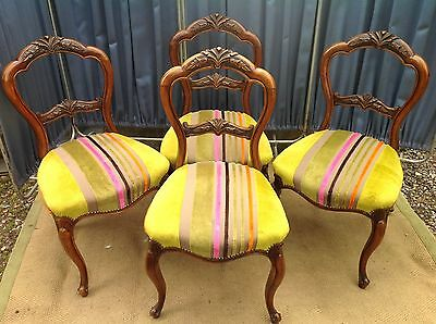Four Edwardian Ballon back chairs in excellent condition
