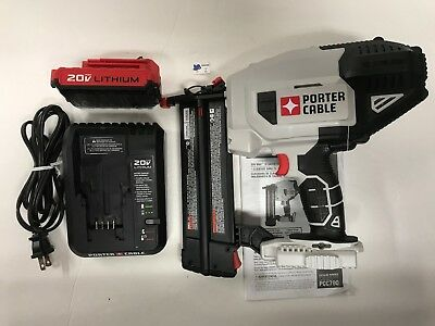 Porter-Cable PCC790 20V Max 18 Guage Lithium-Ion Cordless Brad Nailer KIT