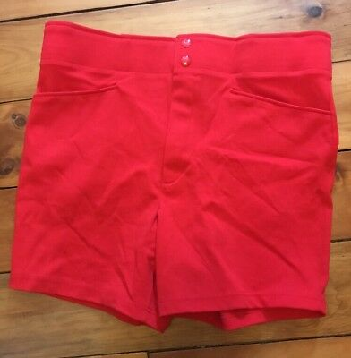 VTG 80s Red RUSSELL ATHLETIC coach shorts USA Deadstock NWOT L