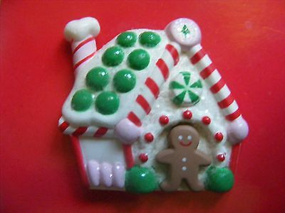 Vintage Hallmark Christmas Gingerbread House Pin Adorable