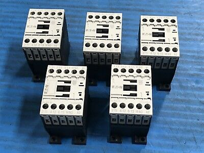 New Lot of 5 Eaton XTCE012B10 Contactor DILM12-10 110V 50Hz 120V 60Hz (I5)