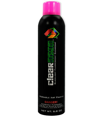 Cosmic Glow Clearneon Invisible Blacklight Reactive Spray Paint