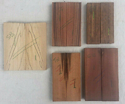 Knife scale multipack - spalted beech, pau ferro, tigerwood, oak, chico zapote