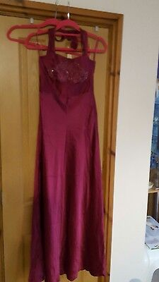 Womens size 10 dress Monsoon 100% silk prom evening occasion party