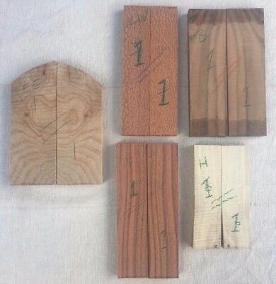 Knife scale multipack - holly, pau ferro, bocote, English elm, leopardwood
