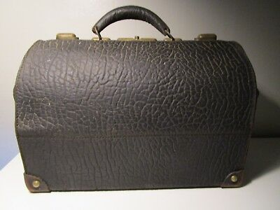 Vintage 1883 Doctors Medical Bag Alligator Leather
