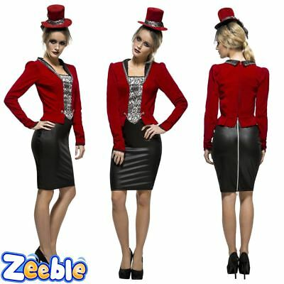Womens Sexy Vampire Costume Ladies Vampiress Halloween Fancy Dress