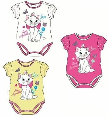 Disney Marie Cat Baby Body Bodydress Katze Neu Gelb/Pink/Weiß Kinderbody