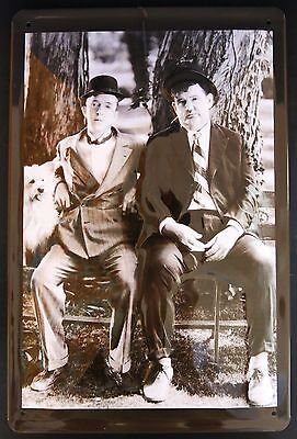Dick & Doof, Blechschild, Stan Laurel Olliver Hardy