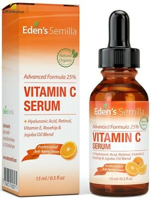 25% VITAMIN C SERUM anti-aging serum, Vitamin E, Rosehip, Jojoba oil blend 15ml