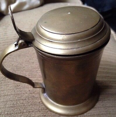 VINTAGE COPPER? BRASS? Miniature Lidded Beer Stein Made In India