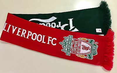 Liverpool Fc Soccer Carlsburg Red & Green Supporter Scarf