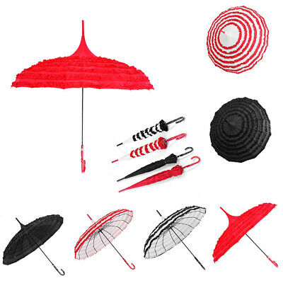 Anti-UV Vintage Pagoda Parasol Bridal Wedding Party Sun UV Rain Umbrella