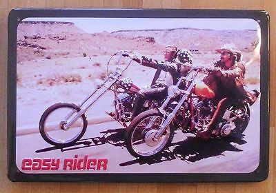 EASY RIDER, BLECHSCHILD mit PRÄGUNG, HARLEY/ROAD MOVIE