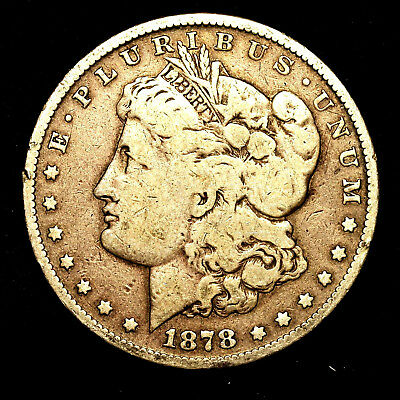 1878 S ~**1ST YEAR ISSUE**~ Silver Morgan Dollar Rare US Old Antique Coin! #W28