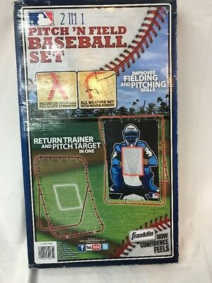 New Pitch N' Field Combo Set By Franklin Baseball Softball Fielding & Pitching