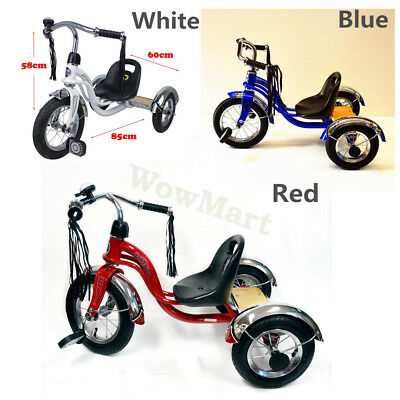 NEW Retro Style Kid Ride on Trike Toy 12'' Rubber Tyre Tricycle (#A21) 3 Colors