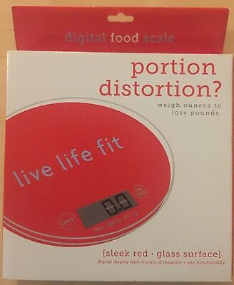 Fitlosophy Red Digital Food Scale NEW