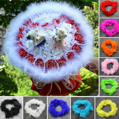 Colorful Feather Boa Flapper Burlesque Accessory 2m Long Fancy Dress Halloween