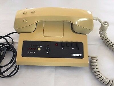 Vintage Dictation Machine Lanier LX-212-1 Phone-style dictation harvest gold