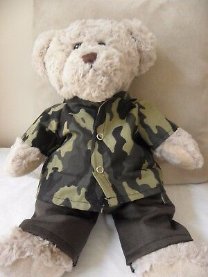 Clothes to fit Pumpkin Patch teddy boys 15 inch Build a bear camouflage set