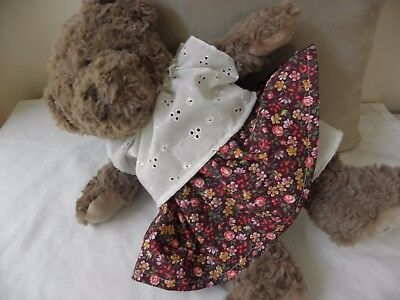 Clothes to fit pumpkin Patch teddy bear suit 15 bear skirt, top and knicker set